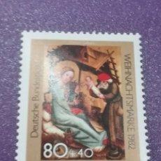 Sellos: SELLO ALEMANIA R. FEDERAL NUEVO/1982/NAVIDAD/NACIMIENTO/BERTRAM/S,XVIII/ARTE/PINTURA/RELIGION/ARTE/C. Lote 241764660