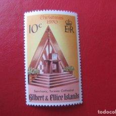 Sellos: *GILBERT & ELLICE, 1970, NAVIDAD, YVERT 166. Lote 241901400