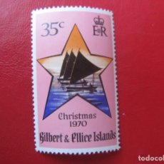 Sellos: *GILBERT & ELLICE, 1970,NAVIDAD, YVERT 167. Lote 241901580