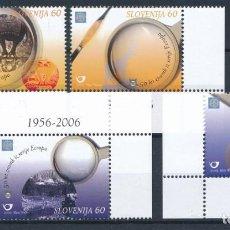 Timbres: ESLOVENIA 2005 IVERT 475/8 *** 50º ANIVERSARIO PRIMERAS EMISIONES DE EUROPA - LUPAS. Lote 242146825