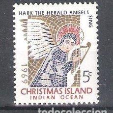 Timbres: ISLAS CHRISTMAS Nº 34** NAVIDAD. ÁNGEL EN CERÁMICA. SERIE COMPLETA. Lote 242957375