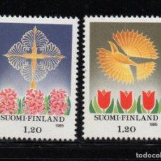 Sellos: FINLANDIA 943/44** - AÑO 1985 - NAVIDAD. Lote 243421330