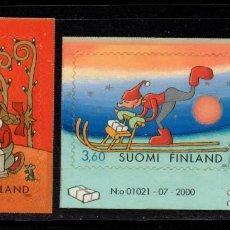 Sellos: FINLANDIA 1554/55** - AÑO 2001 - NAVIDAD. Lote 243424505