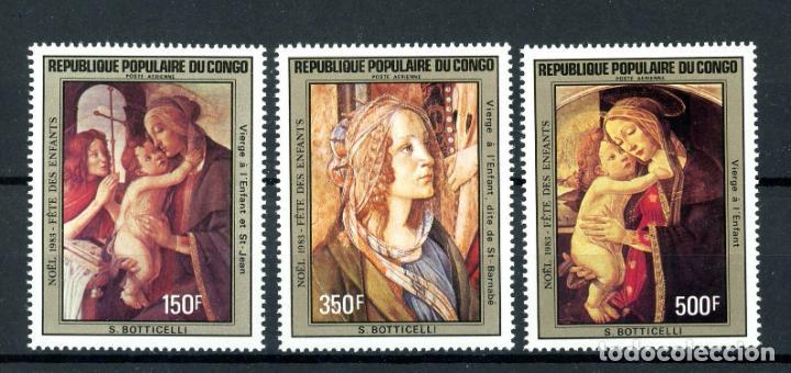 CONGO 1983 AÉREO IVERT 312/4 *** NAVIDAD - ARTE - PINTURA RELIGIOSA (Sellos - Temáticas - Navidad)