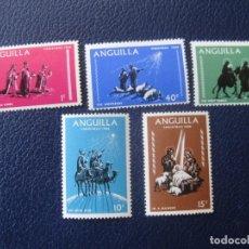 Sellos: +ANGUILLA, 1968, NAVIDAD, YVERT 28/32. Lote 243558595