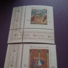 Sellos: HB ALEMANIA R. FEDERAL NUEVA/1996/NAVUDAD/RELIGION/MANUAL/ILUSTRACION/PINTURA/ARTE/REYES/NACIMEINTO/. Lote 243630220