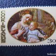 Sellos: +ISLAS COOK, 1969, NAVIDAD, YVERT 221. Lote 243805030