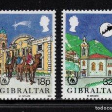 Sellos: GIBRALTAR 526/27** - AÑO 1986 - NAVIDAD - AÑO INTERNACIONAL DE LA PAZ. Lote 243890570