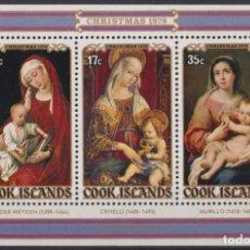 Sellos: F-EX22519 COOK IS MNH 1978 CHRISTMAS NAVIDAD. ART RELIGION CRIVELLI MURILLO VAN DER WEYDEN. Lote 244621555