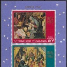 Sellos: F-EX22251 TOGO MNH 1968 CHRISTMAS NAVIDAD. ART RELIGION PAINTING BRUEGEL DÜRER.. Lote 244621570