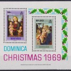 Sellos: F-EX22225 DOMINICA MNH 1969 CHRISTMAS NAVIDADES RELIGION ART PRERUGGINO BOTICELLI. Lote 244621575