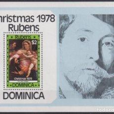 Sellos: F-EX22217 DOMINICA MNH 1978 CHRISTMAS NAVIDADES RELIGION ART RUBENS HOLLY FAMILY.. Lote 244621605