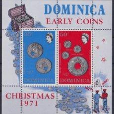 Sellos: F-EX22224 DOMINICA MNH 1971 SHEET CHRISTMAS NAVIDADES EARLY COIN TREASURE. Lote 244621610