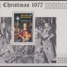 Sellos: F-EX22701 GRENADA GRENADINES MNH 1977 CHRISTMAS NAVIDADES RELIGION ART GHIRLANDAIO. Lote 244621635