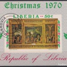 Sellos: F-EX22189 LIBERIA USED 1970 CHRISTMAS NAVIDADES RELIGION ART ANDREA MANTEGNA.. Lote 244621675