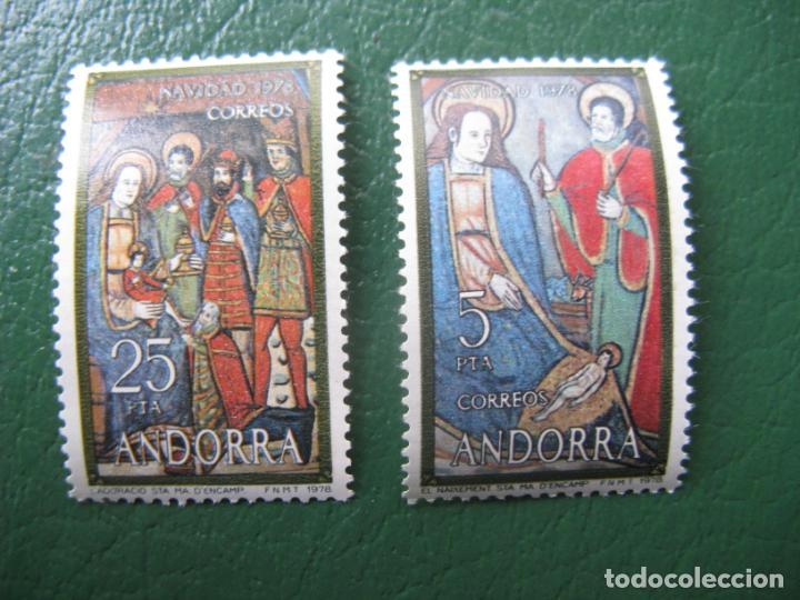+ANDORRA, 1978, NAVIDAD, EDIFIL 120/21 (Sellos - Temáticas - Navidad)
