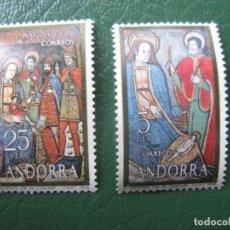 Sellos: +ANDORRA, 1978, NAVIDAD, EDIFIL 120/21. Lote 244937825