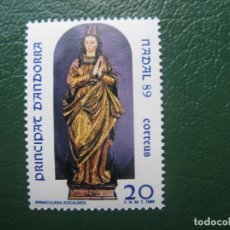 Sellos: +ANDORRA, 1989*, NAVIDAD, EDIFIL 217. Lote 244994970