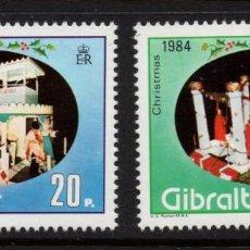 Sellos: GIBRALTAR 493/94** - AÑO 1984 - NAVIDAD. Lote 245052570