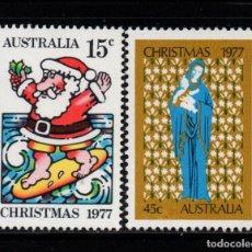 Sellos: AUSTRALIA 622/23** - AÑO 1977 - NAVIDAD. Lote 245061740