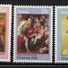 Sellos: AUSTRALIA 718/20** - AÑO 1980 - NAVIDAD - PINTURA Y ESCULTURA RELIGIOSA. Lote 245065275