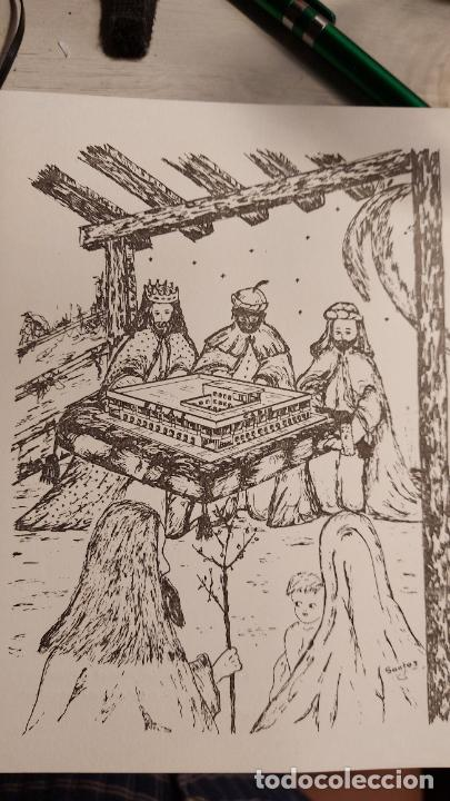 CRISMA DE NAVIDAD DESEANDO FELIZ AÑO 1977 DIRIGIDO POR EL AYUNTAMIENTO DE CADIZ (Sellos - Temáticas - Navidad)