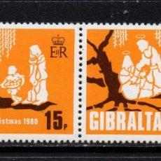 Sellos: GIBRALTAR 416/17** - AÑO 1980 - NAVIDAD. Lote 245987800