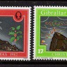 Sellos: GIBRALTAR 465/66** - AÑO 1982 - NAVIDAD. Lote 245990200