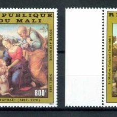 Sellos: MALI 1983 AÉREO IVERT 480/1 *** NAVIDAD - 500º ANIVERSARIO NACIMIENTO DE RAFAEL - PINTURA. Lote 247355615