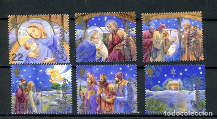 GUERNESEY 2002 IVERT 959/64 *** NAVIDAD - ILUSTRACIONES RELIGIOSAS - LOS REYES MAGOS (Sellos - Temáticas - Navidad)
