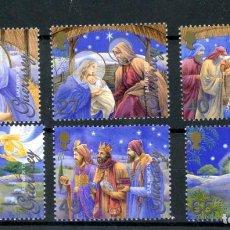 Sellos: GUERNESEY 2002 IVERT 959/64 *** NAVIDAD - ILUSTRACIONES RELIGIOSAS - LOS REYES MAGOS. Lote 247359015