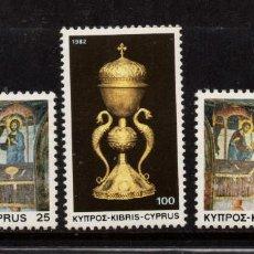 Sellos: CHIPRE 570/73** - AÑO 1982 - NAVIDAD - PINTURA RELIGIOSA. Lote 253725875