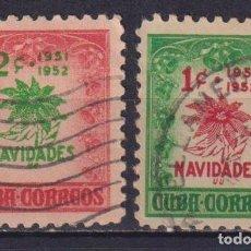 Sellos: ⚡ DISCOUNT CUBA 1951 CHRISTMAS GREETINGS U - PALM TREES, CHRISTMAS. Lote 255640905