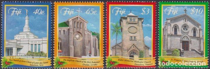 ⚡ DISCOUNT FIJI 2014 CHRISTMAS MNH - CHURCHES, RELIGION, CHRISTMAS (Sellos - Temáticas - Navidad)