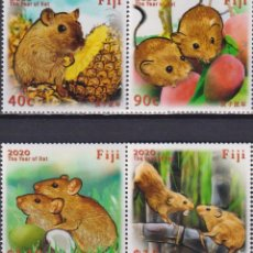 Sellos: ⚡ DISCOUNT FIJI 2020 CHINESE NEW YEAR - YEAR OF THE RAT MNH - NEW YEAR. Lote 261240560