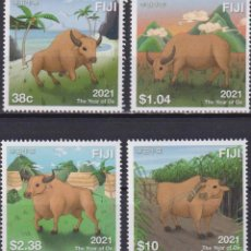 Sellos: ⚡ DISCOUNT FIJI 2021 CHINESE NEW YEAR - YEAR OF THE OX MNH - NEW YEAR, COWS. Lote 261240605