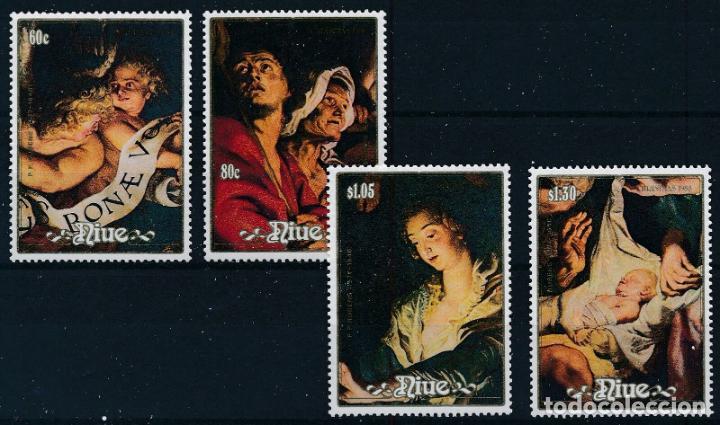 NIUE 1988 IVERT 540/3 *** NAVIDAD - CUADROS DE RUBENS - PINTURA (Sellos - Temáticas - Navidad)