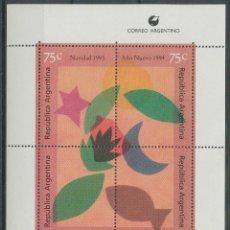 Sellos: ARGENTINA 1993 HB IVERT 58 *** NAVIDAD Y AÑO NUEVO. Lote 261262315