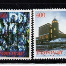 Sellos: FEROE 285/86** - AÑO 1995 - NAVIDAD - IGLESIA DE SANTA MARIA. Lote 261614190