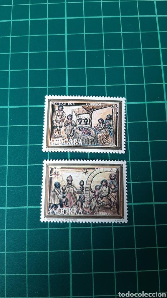 1976 ANDORRA ESPAÑOLA NAVIDAD EDIFIL 106/7 SERIE COMPLETA NUEVA FILATELIA COLISEVM VER MIS LOTES (Sellos - Temáticas - Navidad)