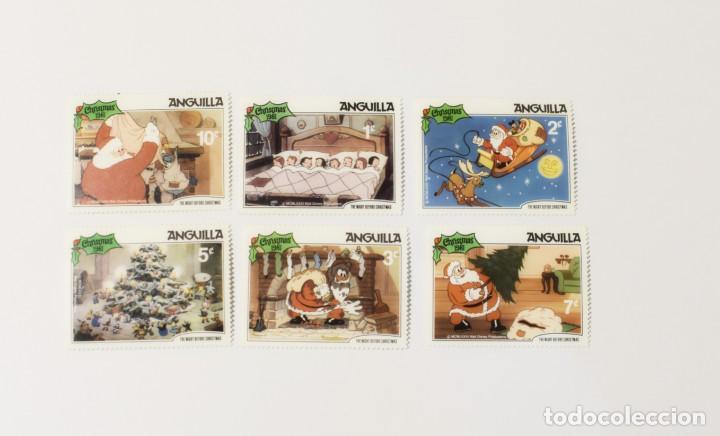 6 SELLOS NUEVOS DE LA ISLA ANGUILA-TEMA NAVIDAD- (Sellos - Temáticas - Navidad)