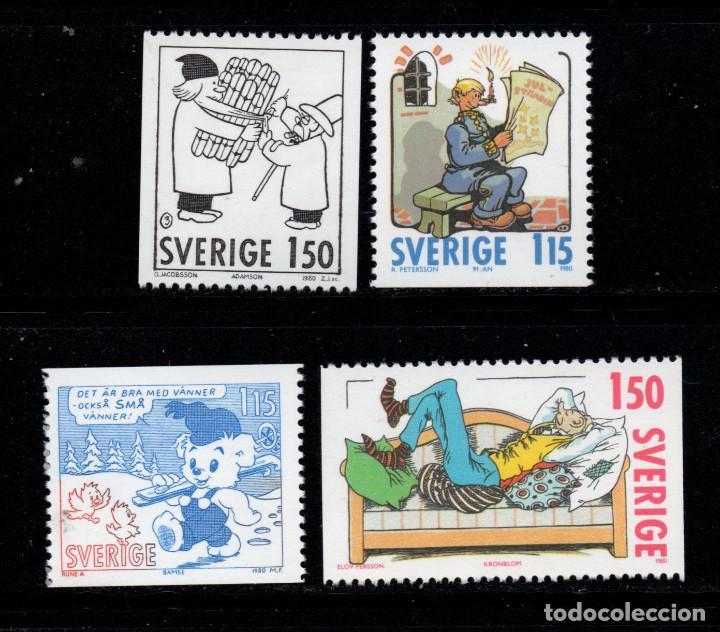 SUECIA 1106/09** - AÑO 1980 - NAVIDAD (Sellos - Temáticas - Navidad)