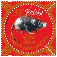 Sellos: ⚡ DISCOUNT POLAND 2020 CHINESE NEW YEAR - YEAR OF THE RAT MNH - NEW YEAR. Lote 262869855