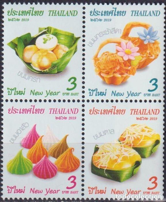 ⚡ DISCOUNT THAILAND 2019 NEW YEAR - TRADITIONAL SWEETS MNH - NEW YEAR, FOOD (Sellos - Temáticas - Navidad)