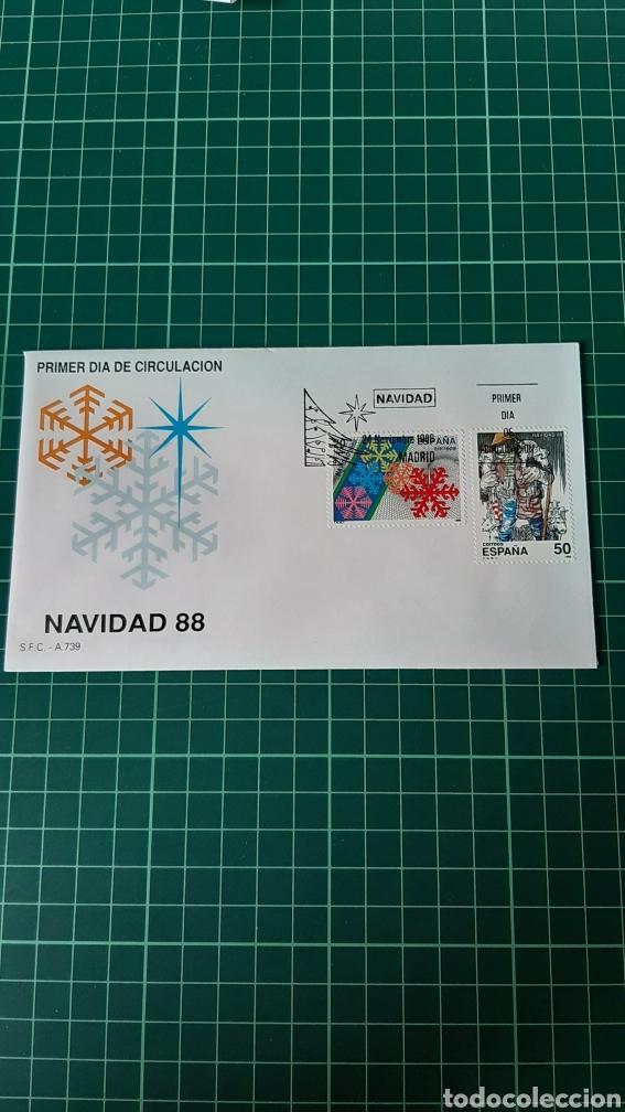 NAVIDAD 1988 ESPAÑA EDIFIL 2876/7 SGC 739 MATASELLO USADOS FILATELIA COLISEVM (Sellos - Temáticas - Navidad)