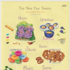 Sellos: ⚡ DISCOUNT THAILAND 2018 NEW YEAR - THAI NEW YEAR SWEETS MNH - NEW YEAR, FOOD. Lote 266301643
