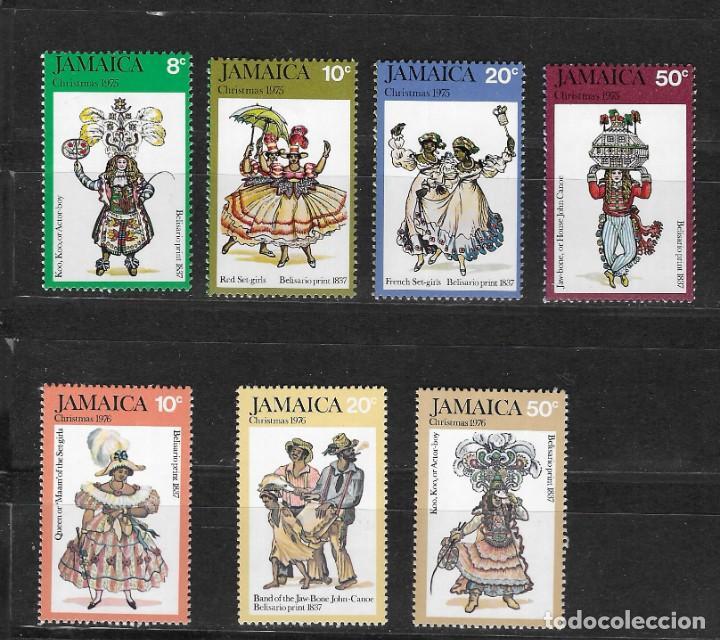 JAMAICA Nº 410 AL 413 Y 424 AL 426 (*) (Sellos - Temáticas - Navidad)