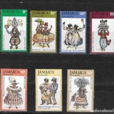Sellos: JAMAICA Nº 410 AL 413 Y 424 AL 426 (*). Lote 266369343