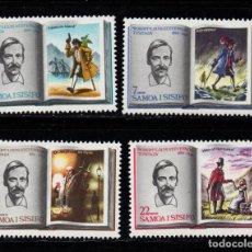 Sellos: SAMOA 245/48** - AÑO 1969 - 75º ANIVERSARIO DE LA MUERTE DEL ESCRITOR ROBERT LOUIS BALFOUR STEVENSON. Lote 266584908