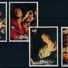 Sellos: NIUE 1988 IVERT 540/3 *** NAVIDAD - CUADROS DE RUBENS - PINTURA. Lote 266918869